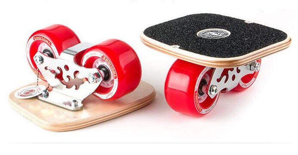 フリーラインドリフトスケートハイエンドベアリング付きPUホイールノンスリップ耐摩耗スケートボードスポーツレッドセット   B07HG27GC6