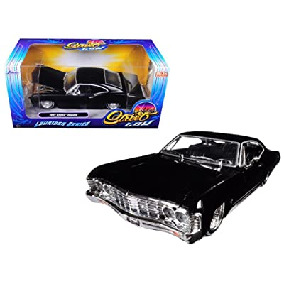 Jada 98934 1967 Chevrolet Impala Black Lowrider Series Street Low 1/24 Diecast Model Car: Toys & Games