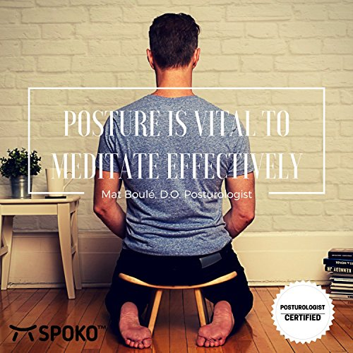 SPOKO Meditation Bench, The Original Kneeling Stool, Posture Certified, Best Chair, Low Seat for Meditations, Yoga, Prayer, Seiza and Kids, No Cushion, Mat, or Pillow Needed , Peace and Happiness
