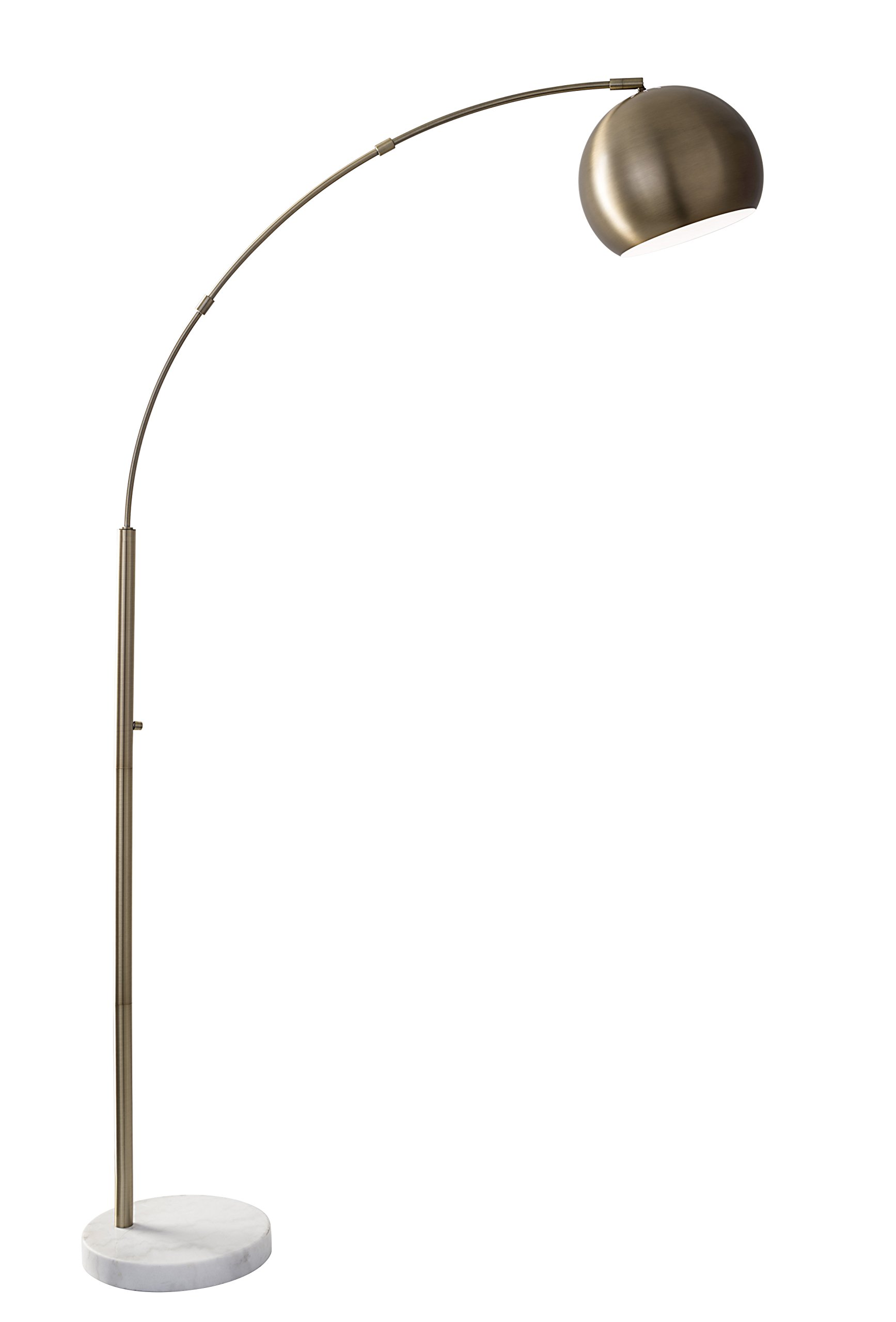 Adesso 5170-21 Astoria 78'' Modern Chic Astoria Arc Lamp, Antique Brass, Smart Outlet Compatible