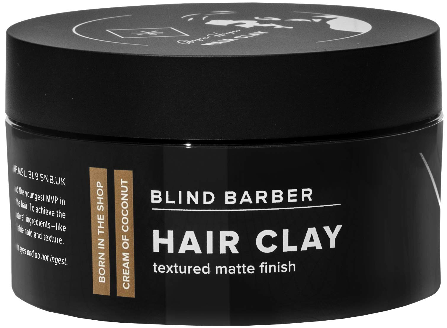 Blind Barber Bryce Harper Hair Clay - Strong Hold Matte Finish Styling Clay for Men, Water Based Kaolin Botanical Formula to Boost Volume & Soak Up Excess Oil (2.5oz / 70g) by Blind Barber