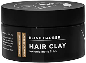 Blind Barber Bryce Harper Hair Clay - Volumizing Styling Paste for Men, Strong Hold Matte Finish, Water Based Hair Product for Men - (2.5oz / 70g)