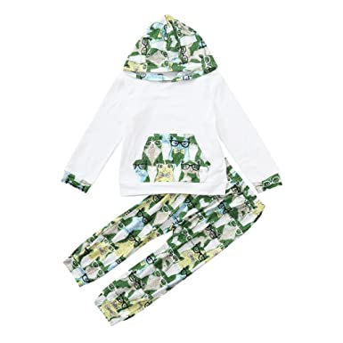 276ce3af for 0-4 Years Baby Outfit, Cute Children Kid Cat Cartoon Print Hooded  Pocket Tops+Pants Casual Set Clothes Black: Amazon.co.uk: Clothing