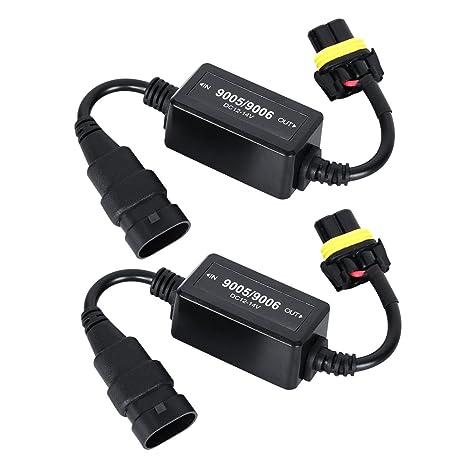 amazon com auxbeam 9006 hb4 led conversion kit error free wiring rh amazon com