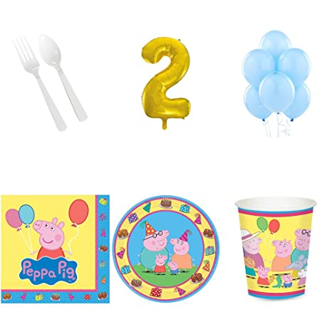 Amazon Peppa Pig 2nd Birthday Party Supplies Pack For 16 Toys Games