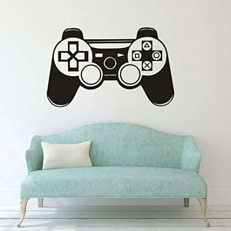 WWYJN Game Controller Wall Decal Vinyl Boy Room Wall Poster ...