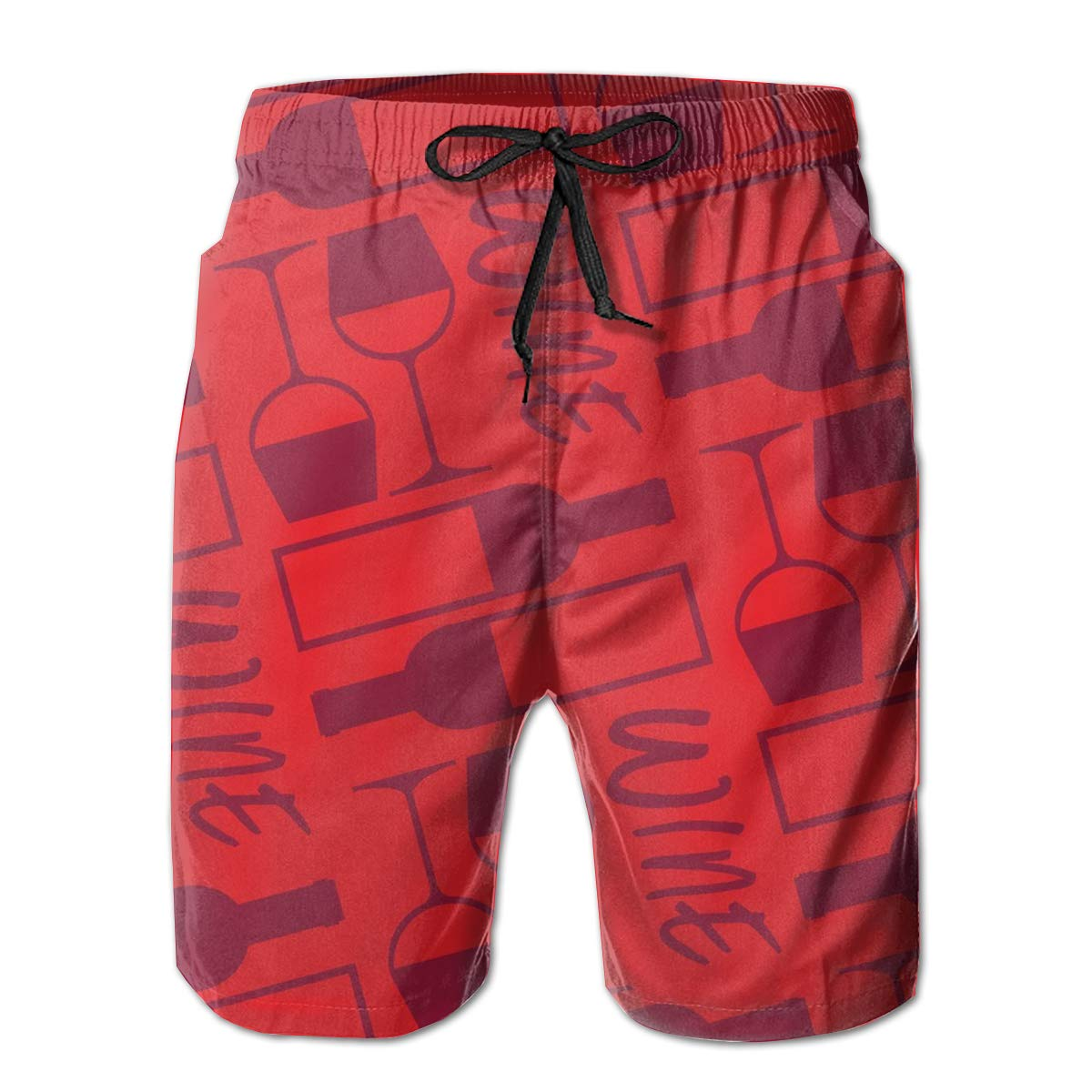 1210825a69 White ROLLING HOP HOP HOP Men's Dry Swim Trunks Red Wine Party Beach Board  Shorts for Outside Home with Pockets 69ab16