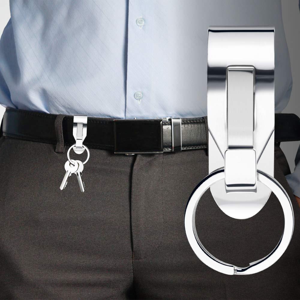 Plata Cintur/ón Llavero 5pcs Clips de cintur/ón de Metal Llavero Titular para