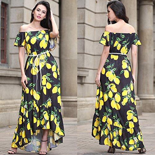Imprimir Mujer Negro Fiesta De Mujer Cintura Para De Vestido Vestidos Vestido JIALELE Fiesta Collar wfxFa8O1