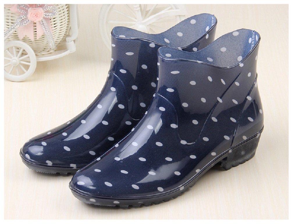 Hanxue Womens Waterproof Garden Shoes Rain Boots B01H6UICYM 8 B(M) US|Blue