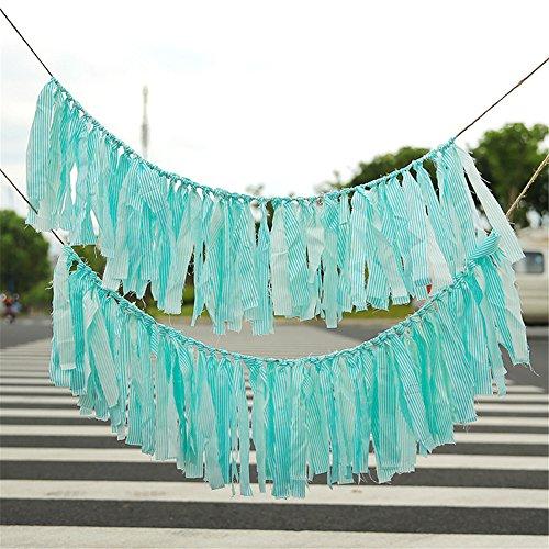HACASO Lace Fabric Tassel Garland Banner For Birthdays, Brid