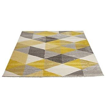 Teppich MUOTO 230x160 Gelb Grau Wohnzimmer Teppich