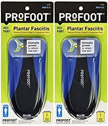 (2 Pairs) Plantar Fasciitis Heel Cup Insoles Mens - Relieves Foot Pain