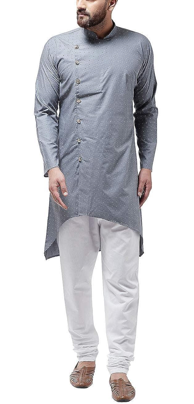 Bollywood-Indian-Kurta-Pajama-Dress-Tunic-Printed-Top-Men-Kurta-Ethnic-Wear thumbnail 20