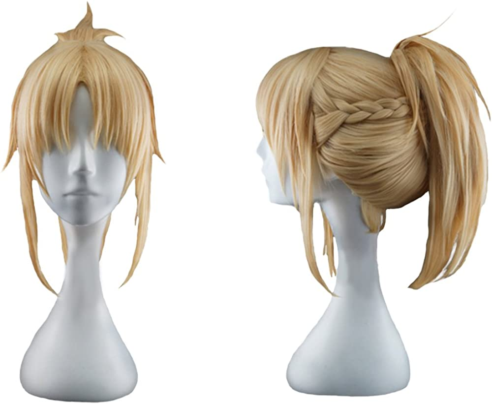 Fate//Apocrypha Mordred Anime Cosplay Wig Brown Hair Long Wigs daily wig