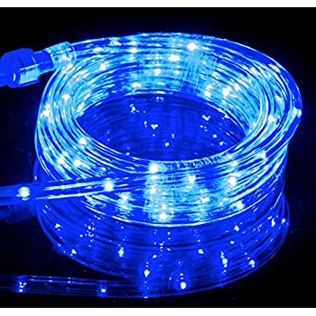izzy creation 106ft blue led flexible rope lights kit indoor outdoor lighting - Rope Christmas Lights