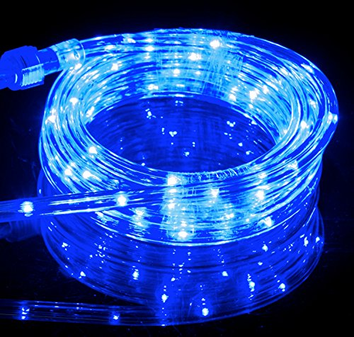 Izzy Creation 10.6FT Blue LED Flexible Rope Lights Kit, Indoor / Outdoor Lighting, Home, Garden, Patio, Shop Windows, Christmas, New Year, Wedding, Party, Event