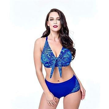 Bikinis for mujer Conjunto Mujer Colorblock Estampado Corbata ...