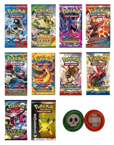 Set 1 Booster Pack (Pokemon Cards - 4 Booster Packs (Random packs) From XY & Newer)