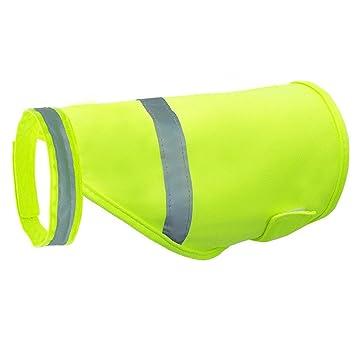 Aquir Chaleco Reflectante de Seguridad para Perros, Pets Seguridad Fluorescente Luminoso para Mascotas Ropa Impermeable Ropa para Caza, Senderismo, ...