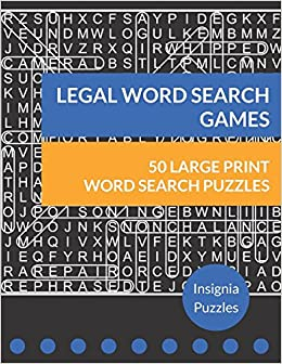 amazon legal word search games one puzzle per page insignia