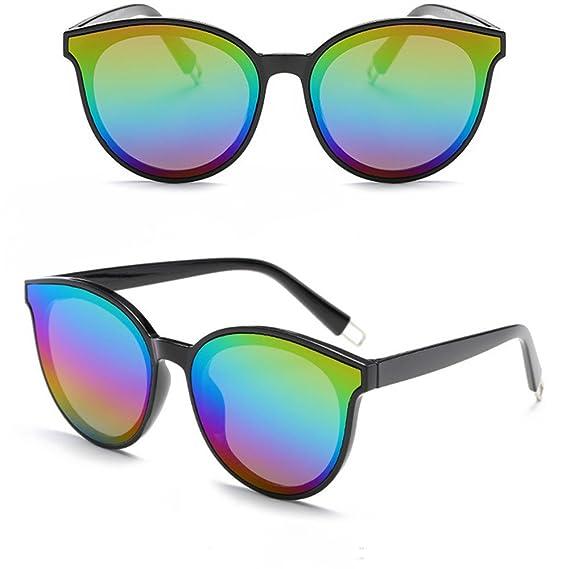 HARRYSTORE Gafas de Sol de Espejo Reflexivo Mujer Cat Eye ...