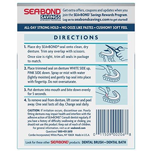 Sea Bond Secure Denture Adhesive Seals, Original Lowers, 30 Count