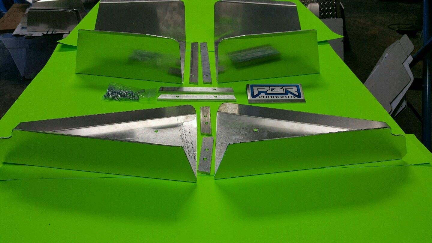 2017 up POLARIS RANGER 1000XP FRONT and REAR ALUMINUM A-ARM GUARDS SKID PLATE