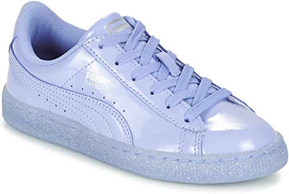 PUMA Basket Patent Iced Glitter PS, Sneakers Basses Mixte