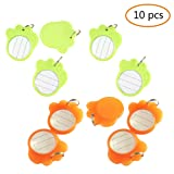 Ztl 10PCS Paw Shape Anti-Lost Pet Dog Cat ID Tag