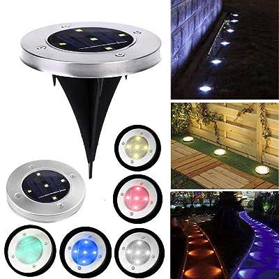 Yealsha Home Garden Solar Power 5 LED Buried Light Outdoor Lawn Underground Park Lamp Path Lights