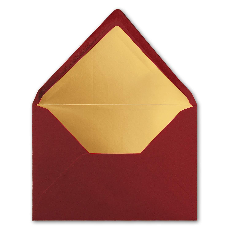 /Colore by Gustav neuser 75 Umschl/äge Scuro/ /Rosso/ /156/X 220/mm/ /incollaggio con patta Temperino/ /gefuetterte Lettera di buste formato C5 Oro metallizzato/