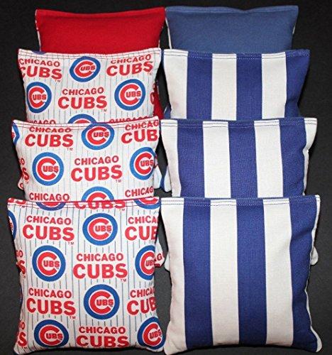 CHICAGO CUBS Cornhole Bean Bags ACA Regulation Corn Toss Bags Vintage Print!!