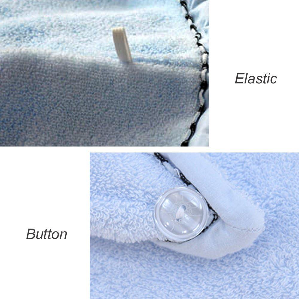 100/% Asciugamano Capelli Turbante Cotone Asciugatura Rapida Per Capelli Umidi Asciugamani Capelli Lunghi Con Bottone