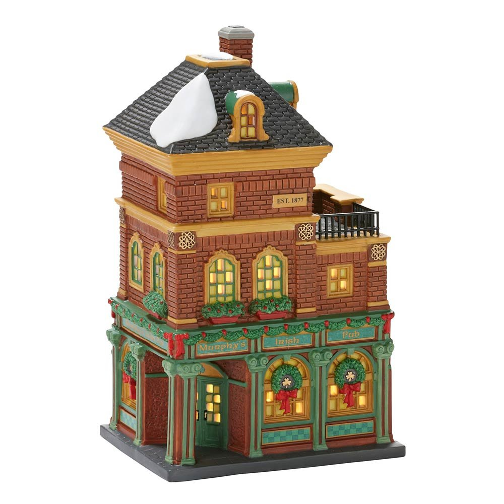 Department 56 Christmas in the City Village Murphy's Irish Pub Lit House 4025241