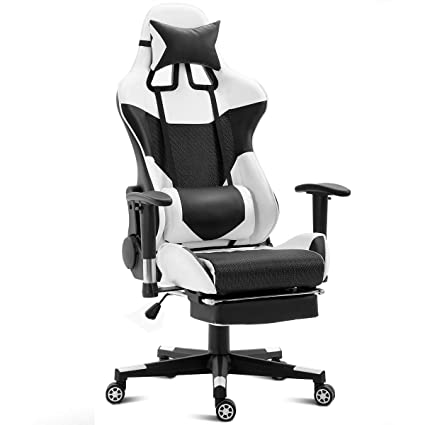 Admirable Giantex Gaming Chair Racing Style High Back Ergonomic Office Chair Executive Swivel Computer Desk Chair Height Adjustable Task Chair Reclining With Creativecarmelina Interior Chair Design Creativecarmelinacom