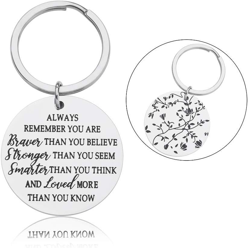 Amazon.com: Always Remember You are Braver Llavero ...