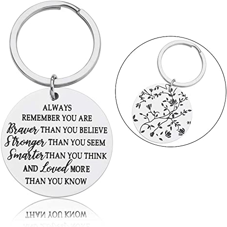 Amazon.com: Always Remember You are Braver Llavero ...