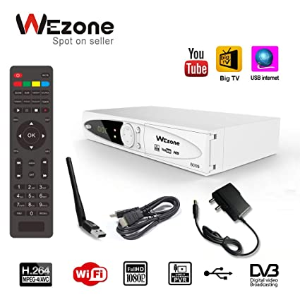 Satellite Tv And Internet >> Wezone Dvb S2 Satellite Tv Receiver 8009 Set Top Box Hd H264 Support Pvr And Playback Via Usb Support Internet From Mobile 2 Usb Ports Fta Channels