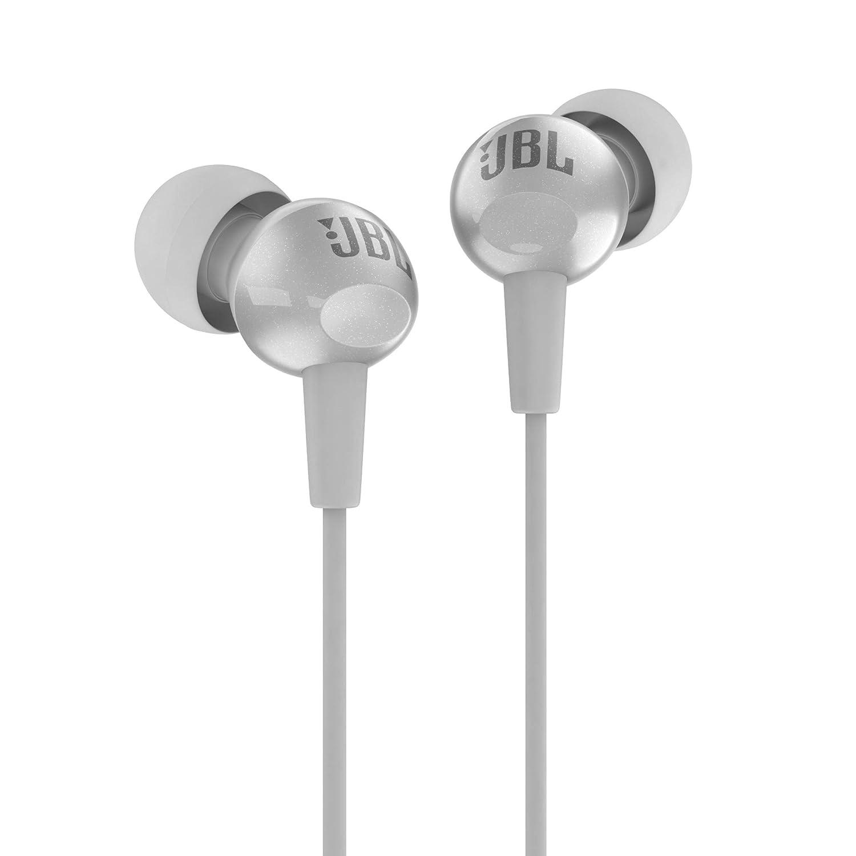 JBL C200SI in-Ear Headphones with Mic (Ice Grey)