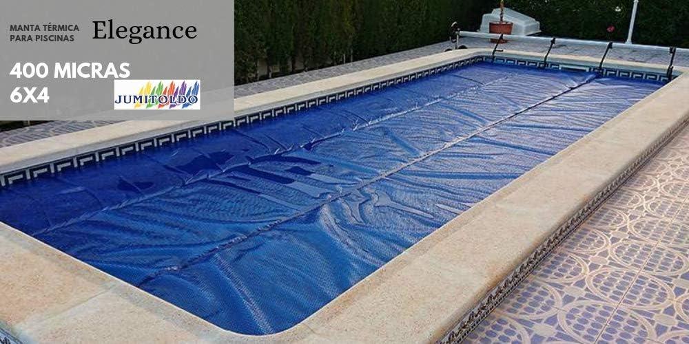 Jumitoldo Manta térmica para Piscinas 400 micras Color Plata ...