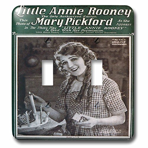 3dRose LLC 3dRose LLC lsp_154810_2 Little Annie Rooney Souvenir Edition Song Sheet Cover Photo of Mary Pickford - Double Toggle Switch