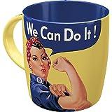 Nostalgic Art 43013 Retro Kaffee-Becher We can Do it, Große Tasse mit tollem USA-Motiv, Geschenk-Idee für Vintage-Liebhaber, 330 ml