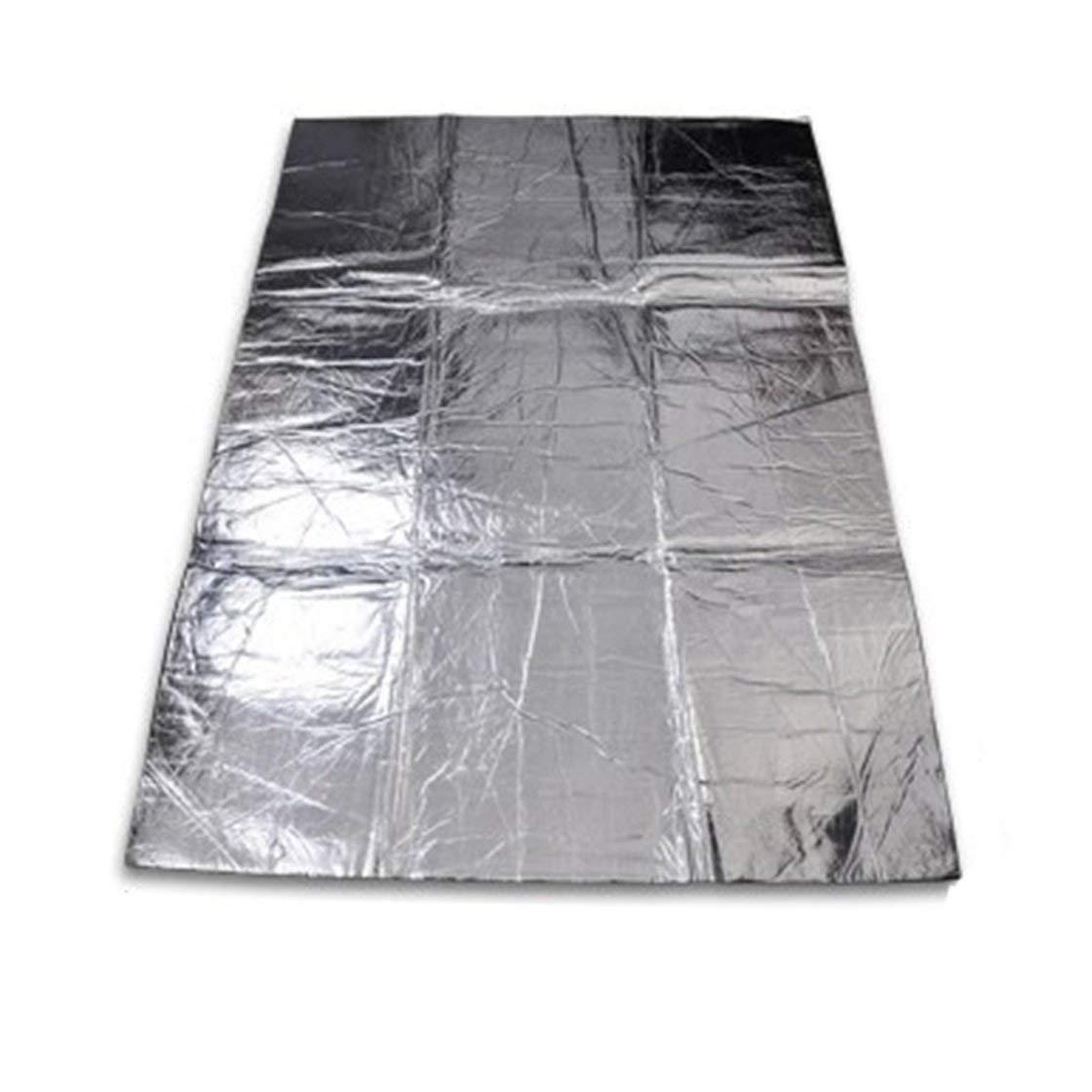 Laurelmartina Car-Styling Car Hood Motor Firewall Heat Mat Deadener Aislamiento de Sonido Deadeing Aluminium Foil Sticker Shield Mat