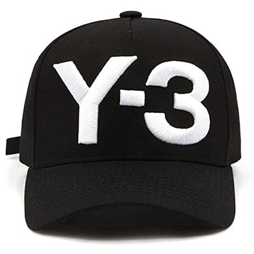 IreDi New Y-3 Dad Hat Big Bold Embroidered Logo Hip Hop Baseball Cap Black 765dd05f063