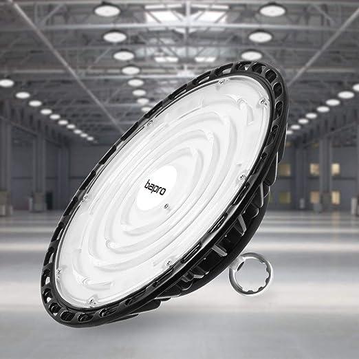 100W UFO LED Lámpara Alta Bahía, bapro Delgada 10000LM Lámpara Industrial, IP65 Focos Led Interior Techo 6500K,Led Iluminación Comercial Leds Floodlight para Fábricas, Aeropuerto, Patio, Restaurante