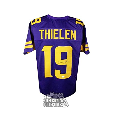 24d39f5e5cb Image Unavailable. Image not available for. Color  Adam Thielen Autographed  Jersey - Custom Color Rush COA - JSA Certified - Autographed NFL Jerseys