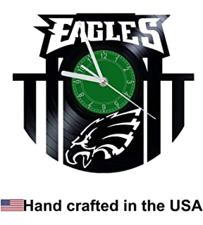 2bb21a10 Amazon.com: Philadelphia Eagles Vinel Record Wall Clock Home Art ...