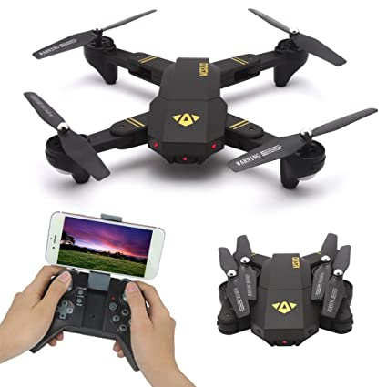 gaxen Mini dron cuadricóptero, xs809hw plegable de 6 ejes RC Drone ...