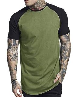Nanquan Men Stripe Print Button Up Regular Fit Contrast Short Sleeve Shirts
